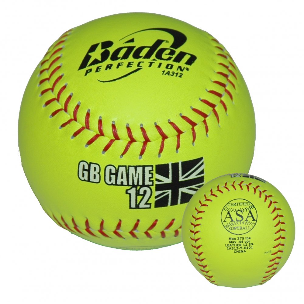 Softball: Baden GB GAME Leather Match Ball